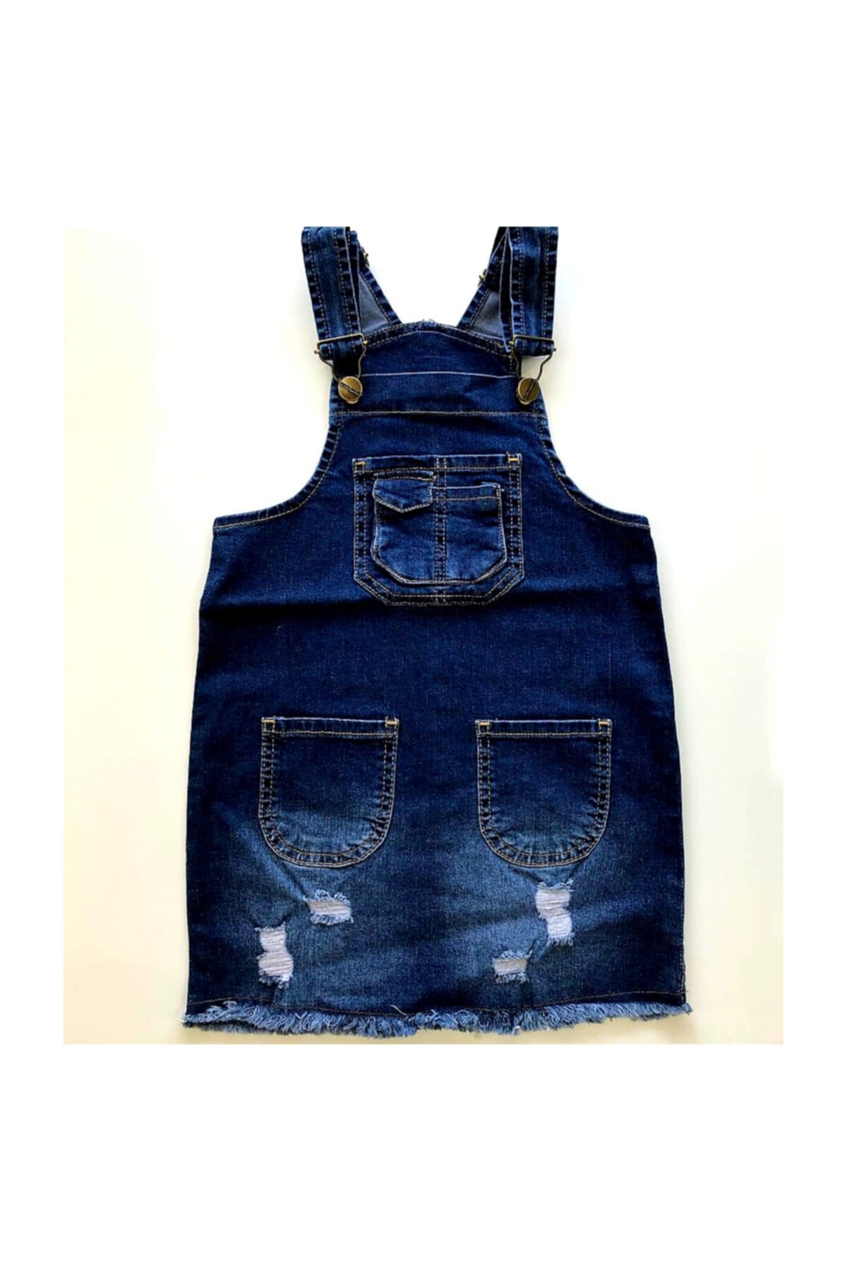 Kız Çocuk Jeans Salopet