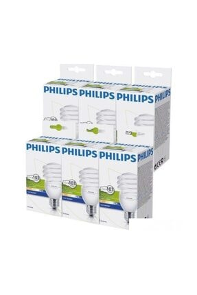 Philips Economytwister 23w E27 Normal Duy Beyaz Işık 6`lı Ekopaket 0