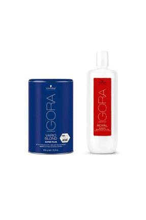 Schwarzkopf Igora Vario Blond Super Plus Beyaz Acıcı 450 gr + Igora Krem Oksidan %12 40v 1000ml 4045787401318-40 0
