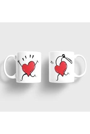 Bilge Hediyelik Aşkını Kovalayan Kalp Kupa Takımı 0