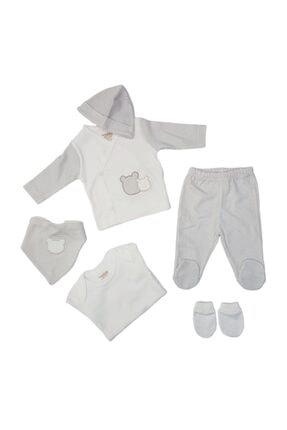 Ciccim 4330 Erkek Bebek Ayıcık Işlemeli 6'lı Hastane Çıkışı 0