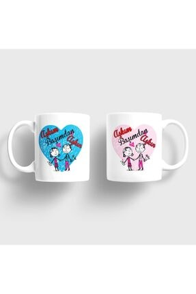 Bilge Hediyelik Aşkım Başımdan Aşkın Kupa Takımı 0