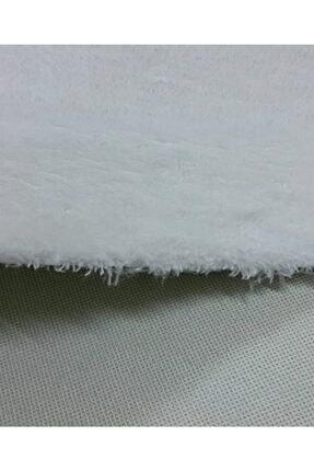 Sarar Post Halı Beyaz 80x200 cm Yüksek Kalite Kaymaz Taban Saçaklı Halı 3