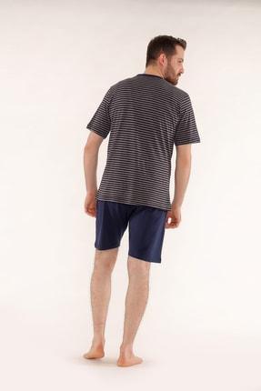 Pelin  Şortlu Lacivert Erkek Pijama Takımı 3