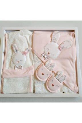 Gaye 826 Kız Bebek Pamuklu Bornoz Seti 1