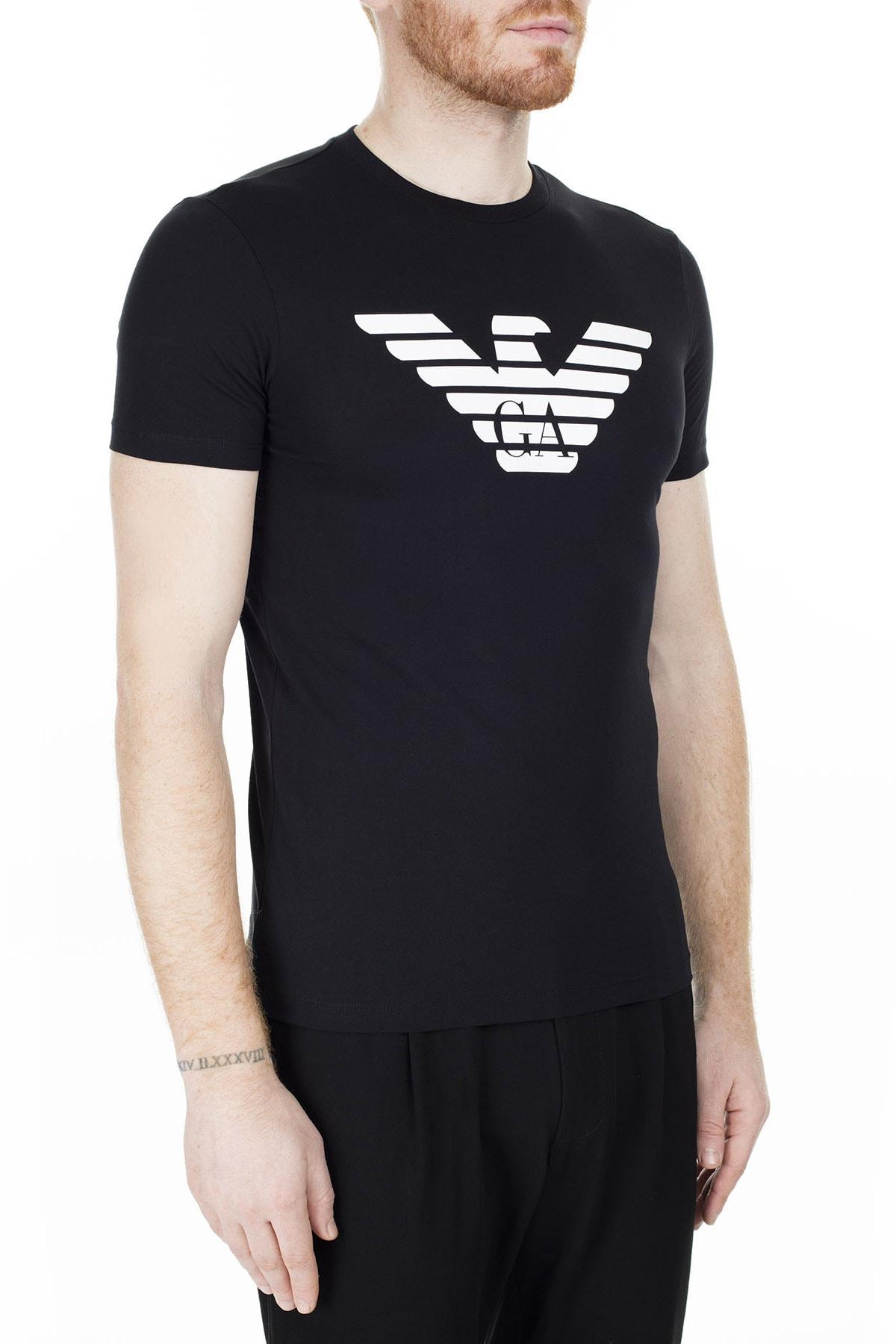 Emporio Armani Siyah Erkek T-Shirt 8N1T99 1JNQZ 0999 3