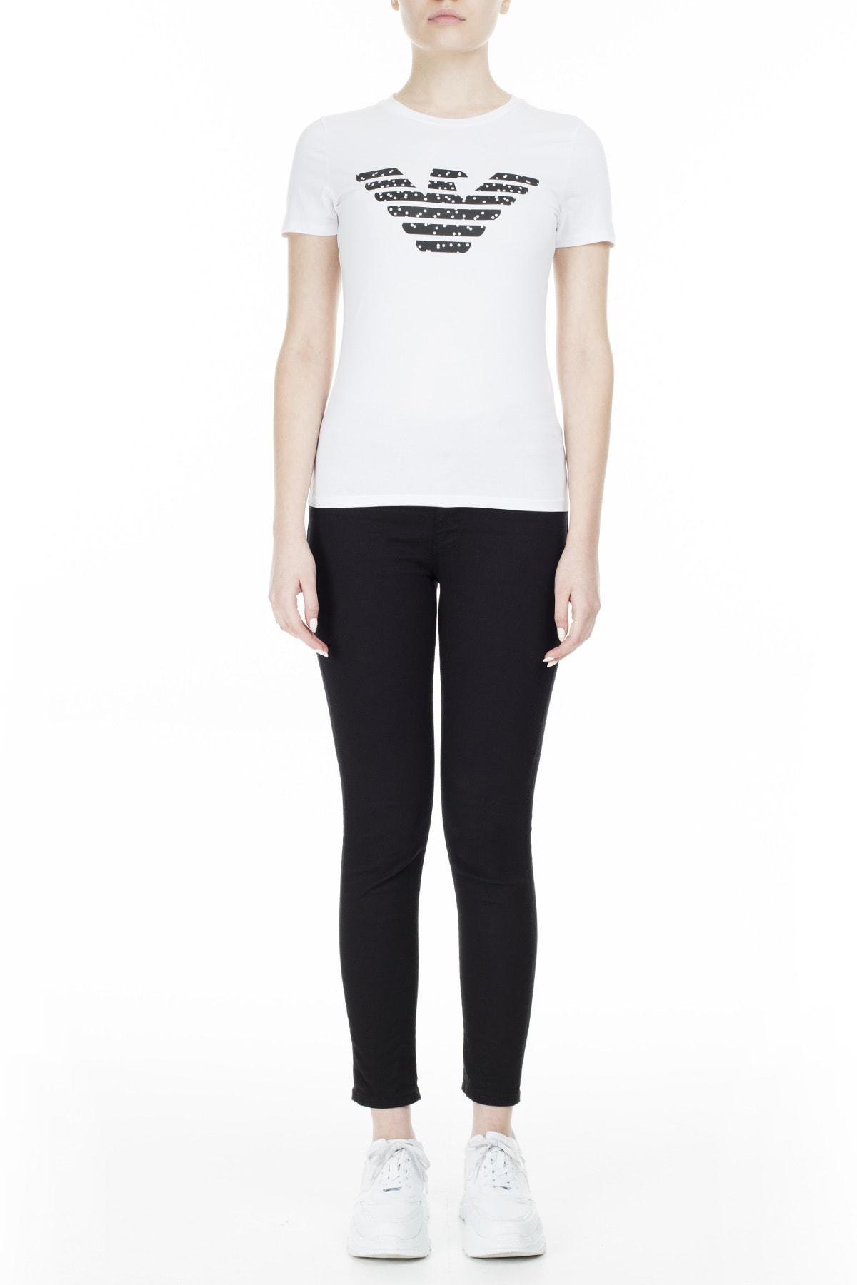 Emporio Armani T Shirt Kadın T Shirt S 6G2T7N 2J07Z 0100 S 6G2T7N 2J07Z 0100 4