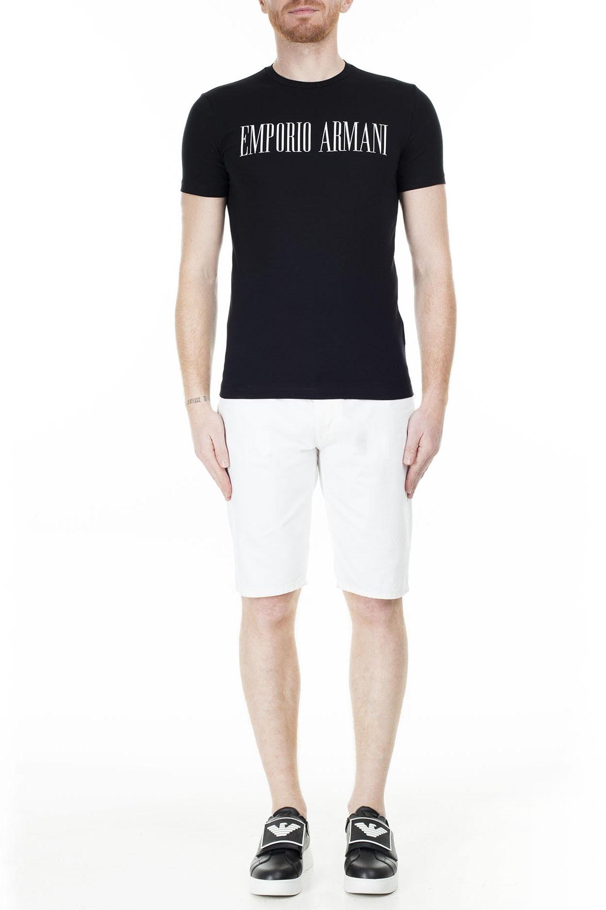 Emporio Armani Regular Fit T Shirt Erkek T Shirt S 6G1Td5 1J0Az 0002 S 6G1TD5 1J0AZ 0002 4