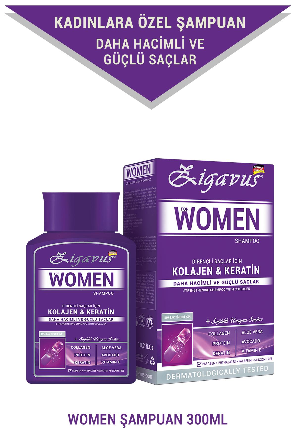 Women Kolajen - Keratin Şampuan 300 ml - Sağlıklı Uzayan Saçlar  8699349130671