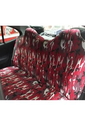 AutoFresh Opel Corsa C 2004 Uyumlu Kamuflaj Kılıfı Koruyucu Spor Kırmızı Desenli Yıkanabilir Ful Ön Arka Set 2