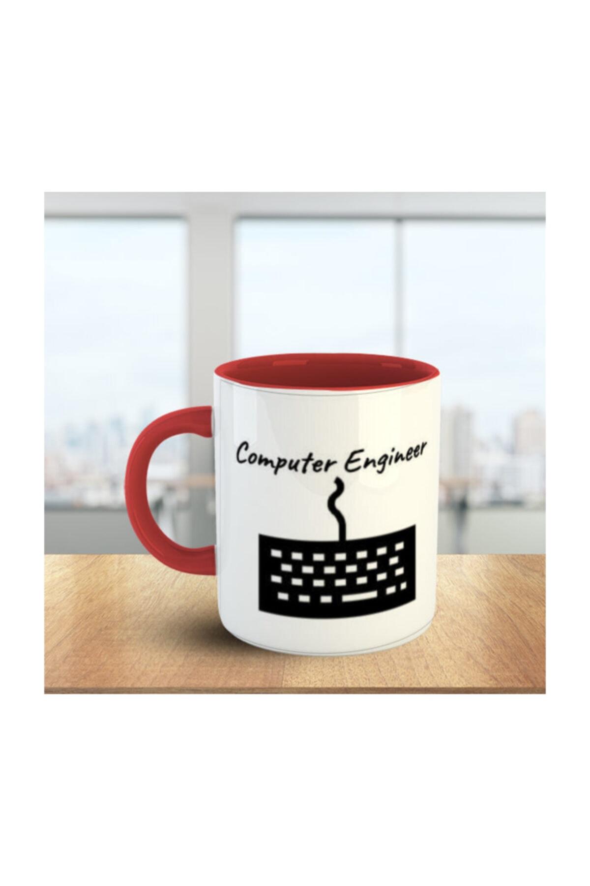 Computer Engineer (bilgisayar Mühendisi) Kırmızı Beyaz Kupa