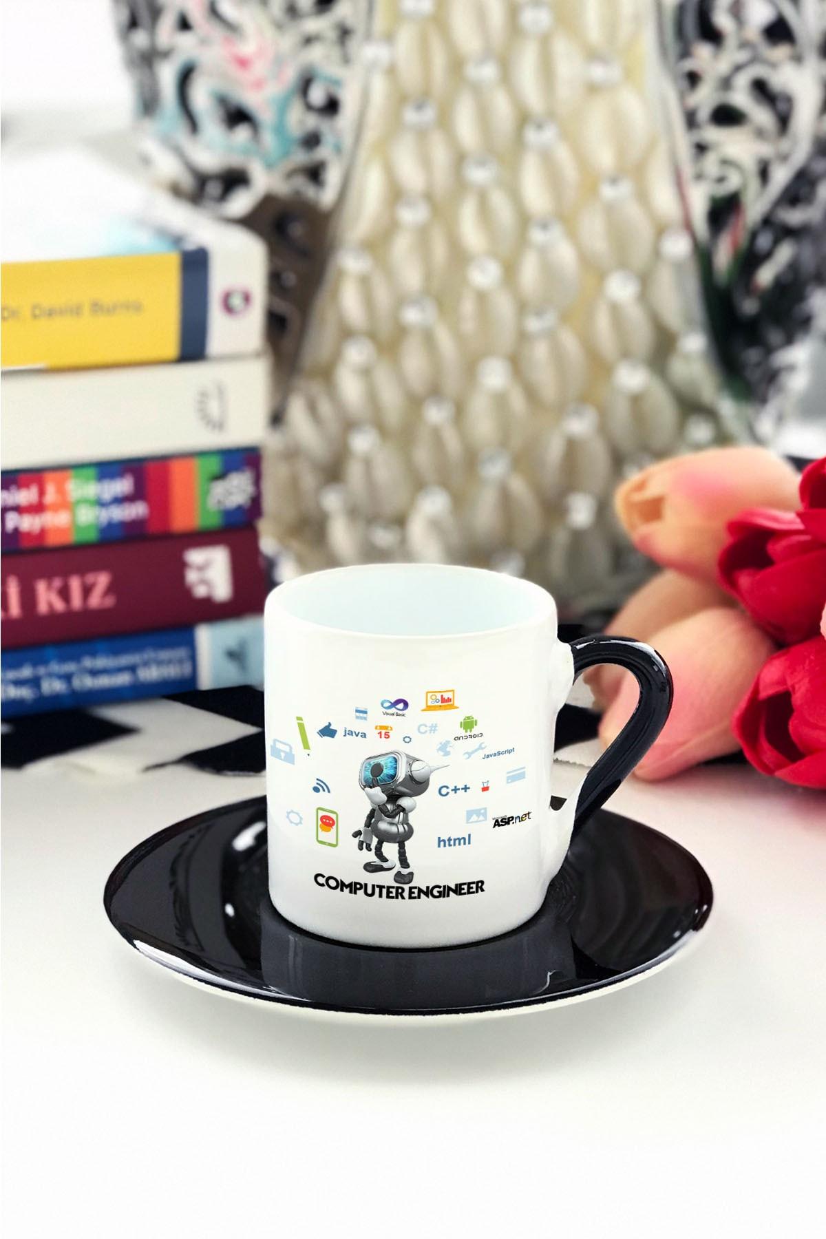 Computer Engineer Türk Kahvesi Fincanı Siyah