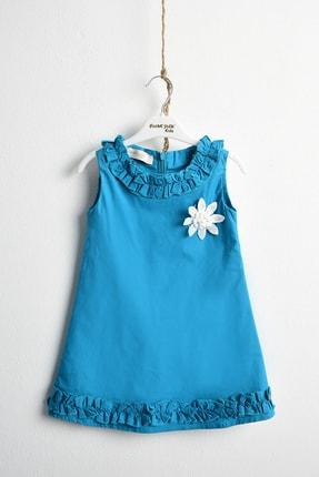 ÇocukYoluKids Yeşil Fırfırlı Elbise 0