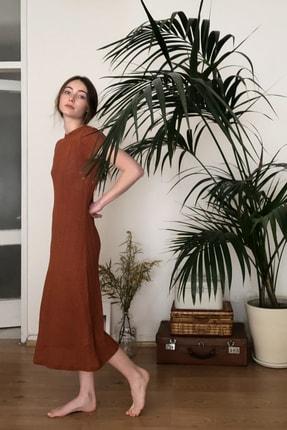 TRENDYOLMİLLA Kiremit Dokulu Midi Örme Elbise TWOSS20EL2993 2