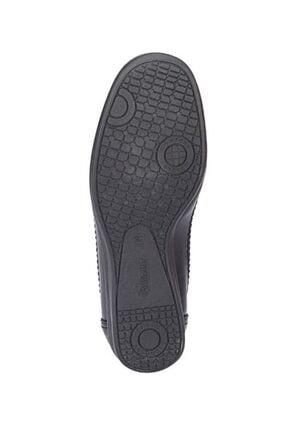 Polaris Siyah Renk 5 Nokta Ortopedik Taban Kadın Loafer Babet Ayakkabı 3