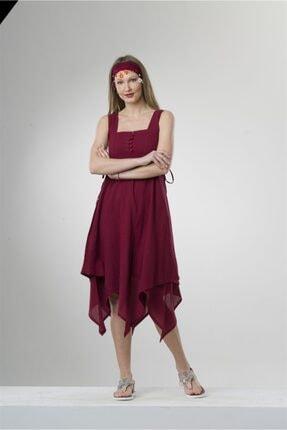 Eliş Şile Bezi Üçgen Katlı Elbise 0