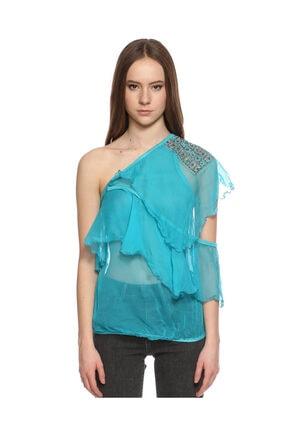 Ltd Jeans Tek Kollu Mavi Bluz 2
