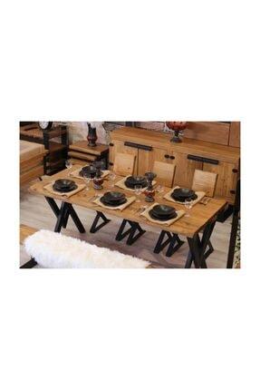 NT Concept Ntconcept Masif Ağaç Yemek Masası - 85cm-200cm Masa 4