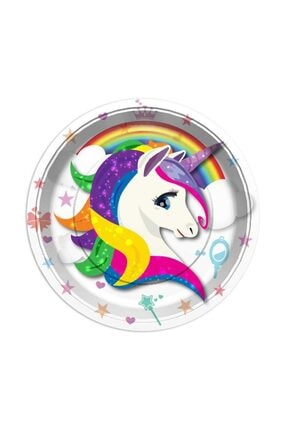 Partifabrik Unicorn Renkli Tabak 0