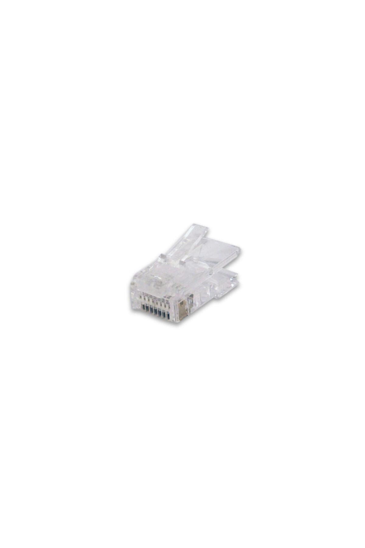 Modüler Fiş Category 5e Rj45 8p8c Zırhsız Yuvarlak Kablo Tipi 100 Lük Paket