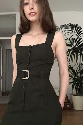 TRENDYOLMİLLA Siyah Kemerli Elbise TWOSS20EL1767 1