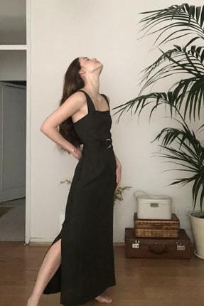 TRENDYOLMİLLA Siyah Kemerli Elbise TWOSS20EL1767 2
