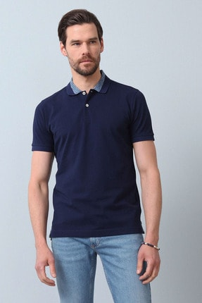 Ramsey Erkek Açık Lacivert Jakarlı Örme T - Shirt RP10119899 0