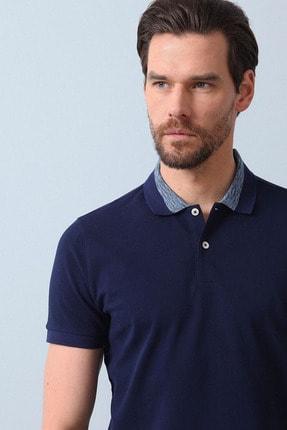 Ramsey Erkek Açık Lacivert Jakarlı Örme T - Shirt RP10119899 2