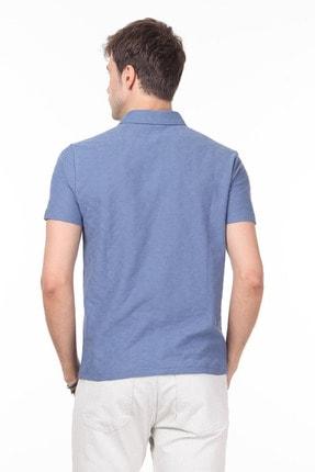 Ramsey Erkek Koyu Mavi Jakarlı Örme T - Shirt RP10119896 3