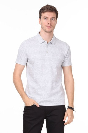 Ramsey Erkek Gri Jakarlı Örme T - Shirt RP10119832 0