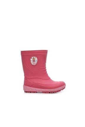 Kemal Tanca Kız Çocuk Pembe Hakiki Deri  Deri Yağmur Çizmesi Çizme 104 TURBO UNI CZM 24-32 0