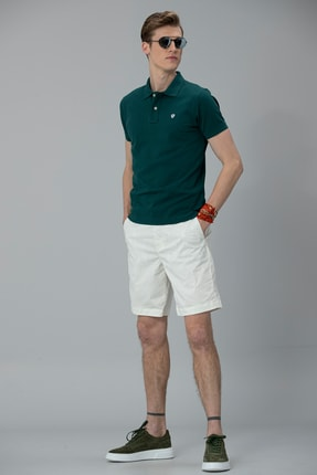 Lufian Laon Spor Polo T- Shirt Koyu Yeşil 2