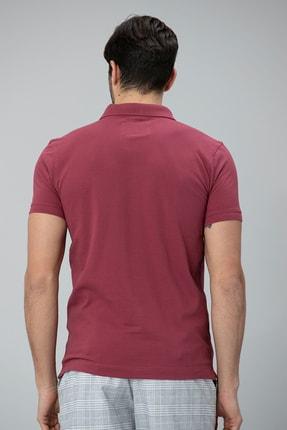 Lufian Laon Spor Polo T- Shirt Bordo 3