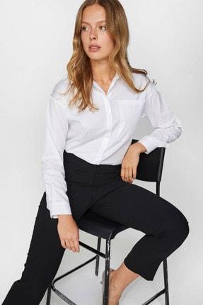 Kadın Beyaz Basic Beyaz Poplin Gömlek 60407 U60407 resmi