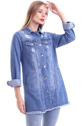 My Style Kadın Buz Mavi Dilek Kot Ceket 3