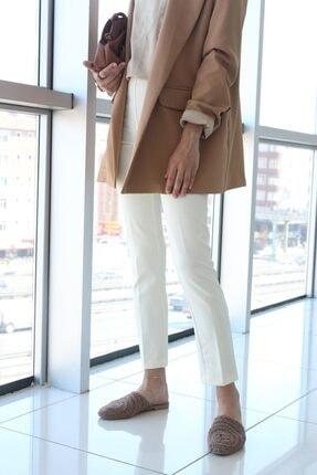 ALLDAY Kadın Ekru Fermuarlı Pantolon 3