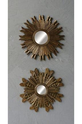 Warm Design Antik Altın Ayna 3