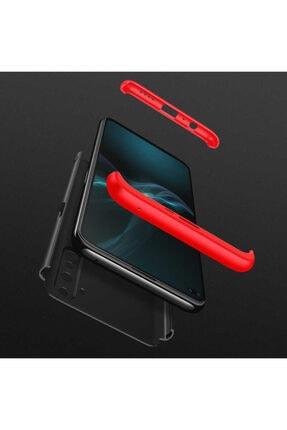 BizimGross Oppo Realme 6 3 Parça Tam Koruma Kılıf + 5d Tam Kaplayan Ekran Koruyucu 2