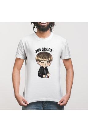Crazy Bts Cartoon Jungkook Chibi Erkek Tişört 2