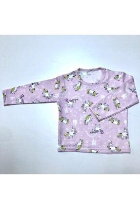 BUBİ GİYİM Kız Çocuk Pembe Unıcorn Pijama Takımı 2