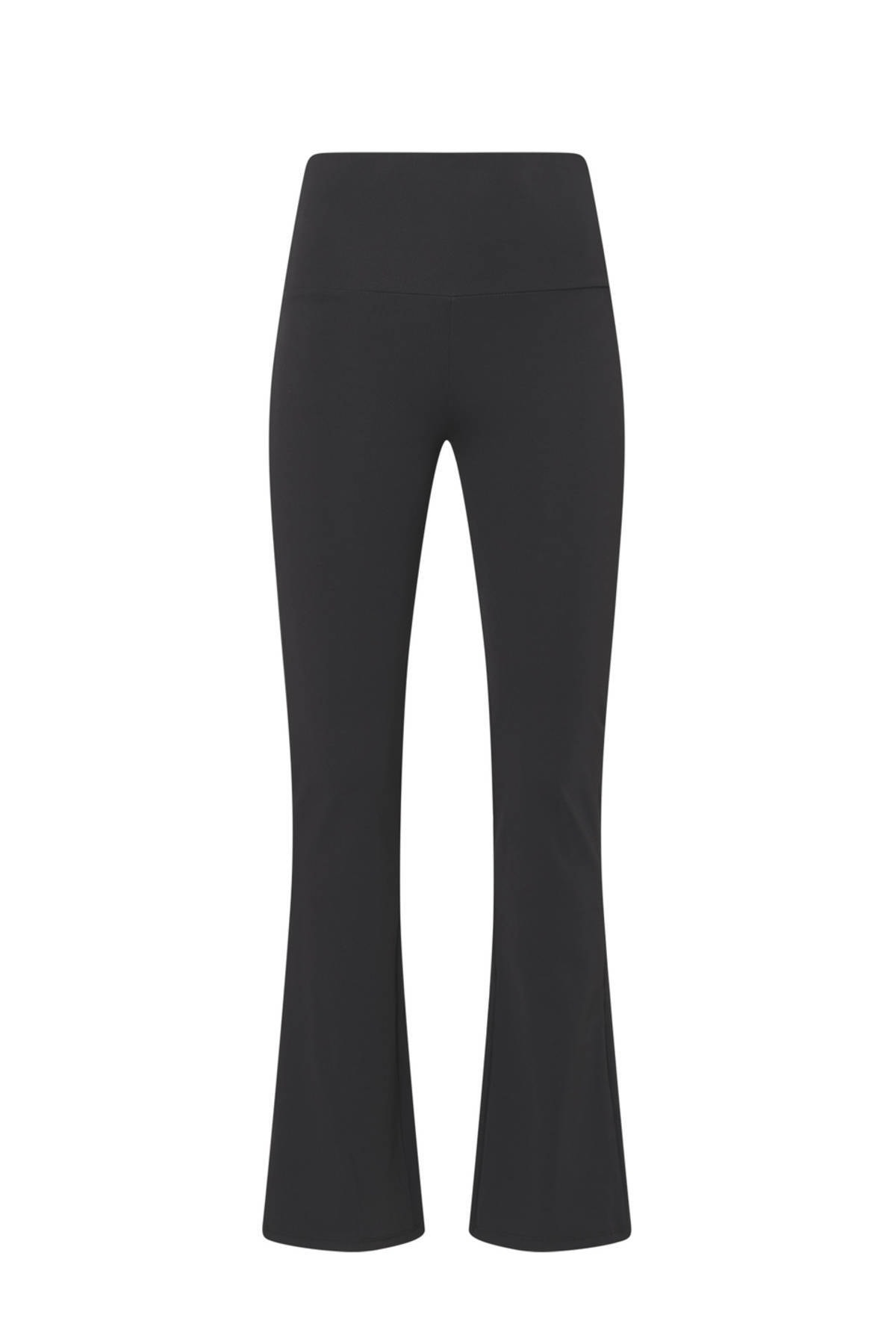 Oysho Kadın Siyah Flare Comfort Pantolon 3