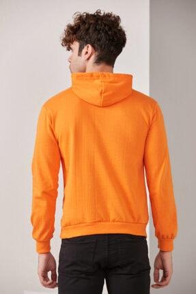 CATSPY Erkek Turuncu Kapüşonlu Sweatshirt 4