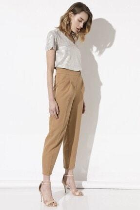 Arma Life Kadın Kahverengi Tokalı Kumaş Pantolon 3