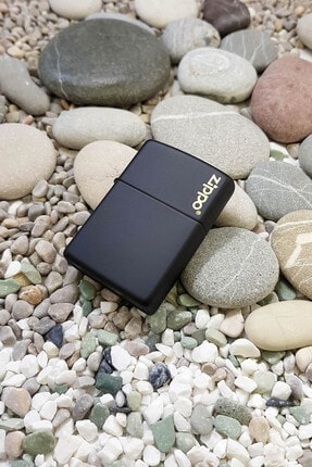 Zippo Çakmak Black Matte Siyah Logo 218Zl-000023 2