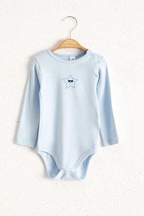 LC Waikiki Erkek Bebek Mavi Csv Bebek Body & Zıbın 4