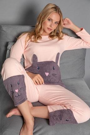 Strawberry Kadın Somon Pamuklu Interlok Pijama Takimi 4