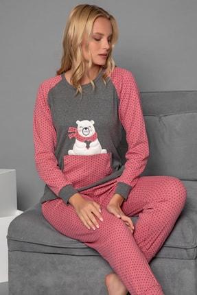 Strawberry Kadın Gül Kurusu Pamuklu Interlok Pijama Takimi 1
