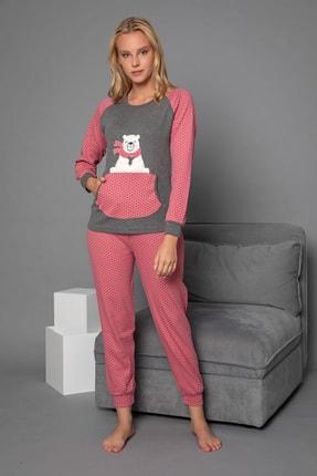 Strawberry Kadın Gül Kurusu Pamuklu Interlok Pijama Takimi 2