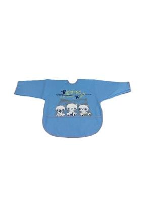 Bebekevi Sıvı Geçirmez Uzun Kollu Mavi Önlük 0