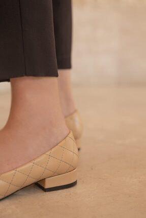 Straswans Worde Deri Topuklu Ayakkabı Ten 0